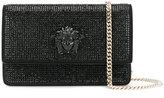 Versace crystal-embellished Medusa Palazzo shoulder bag - women - Leather/glass - One Size