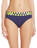 Jag Women's Shadow Dot Loop D Loop Bikini Bottom