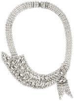 Banana Republic Crystal Leaf Focal Necklace