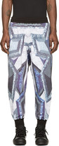 Kokon To Zai Purple & Grey Prism Print Lounge Pants