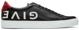 Givenchy Black Reverse Logo Urban Street Sneakers