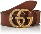 Gucci Men's GG Buckle Leather Belt
