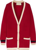 Gucci Metallic-trimmed Wool-blend Cardigan