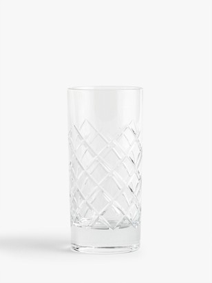 John Lewis & Partners Lucca Cut Crystal Glass Highballs, 360ml, Set of 2, Clear