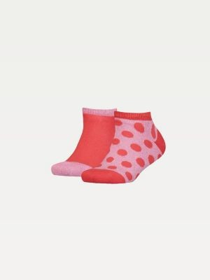 Tommy Hilfiger Kids' 2-Pack Metallic Dot Trainer Socks