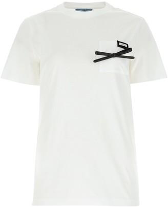 Prada Bow Logo T-Shirt