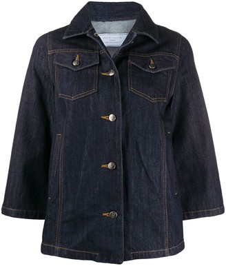 Societe Anonyme Cropped Sleeve Denim Jacket