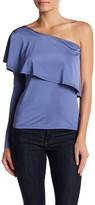 Blvd One Shoulder Ruffle Blouse