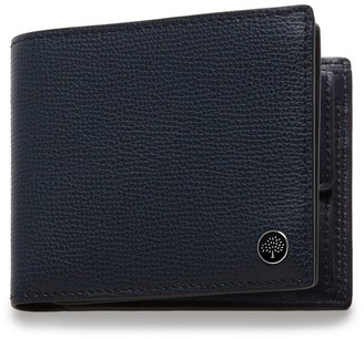Mulberry 8 Card Coin Wallet Tree Plaque Bright Navy Cross Grain Leather