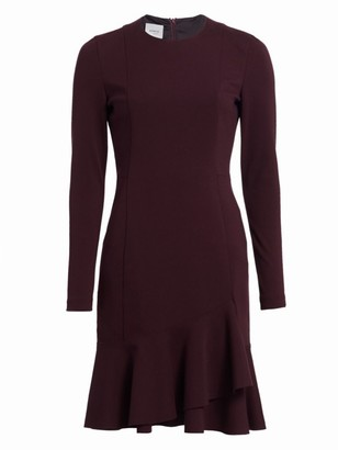 Akris Punto Ruffle Hem Jersey Dress