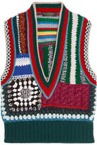 Burberry Patchwork Crocheted Vest - Red