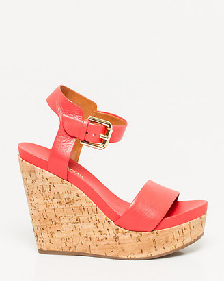 Le Château Brazilian-Made Leather Wedge Sandal