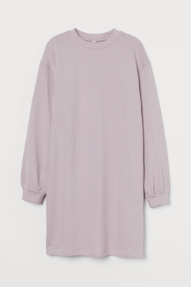 H&M Short Sweatshirt Dress - Purple
