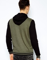 Asos Bomber In Jersey With Hood