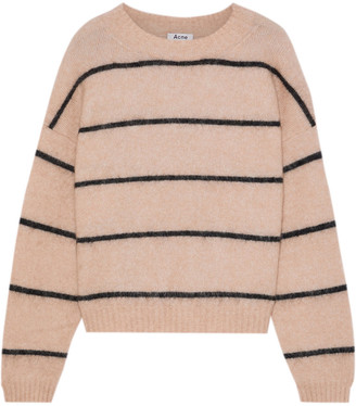 Acne Studios Rhira Striped Brushed-knitted Sweater