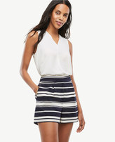 Ann Taylor Petite Pleated Striped Shorts