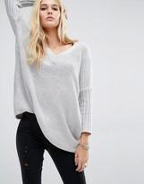 Noisy May Deep V-Neck Oversize Knit Sweater