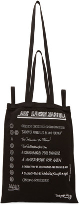 MM6 MAISON MARGIELA Black Strappy Shopping Tote