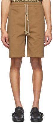 Nanushka Brown Cotton Jem Shorts