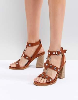 Asos Design DESIGN Tiffany Suede Heeled Sandals
