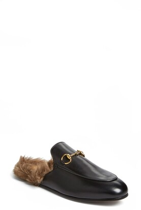 Gucci Princetown Genuine Shearling Loafer Mule