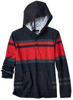 Boys 8-20 Urban Pipeline® Striped Henley Hoodie