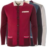 Gabicci Mens Knitted Cardigan Button up Geo Pattern Knitwear Sizes S-2XL
