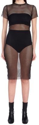 Nude Netting Bodycon Dress