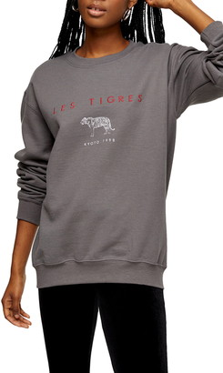Topshop Les Tigres Crew Sweatshirt