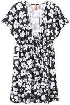 Joe Fresh Women's Print Swim Cover Up, Black (Size M)