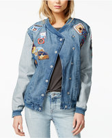 GUESS ORIGINALS Patched Bomber Jacket