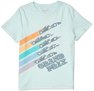 PEEK Greyson Grand Prix Tee (Toddler/Little Kids/Big Kids) (Aqua) Boy's Clothing