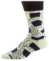 Yo Sox Patrick Patterson Collaboration Minty Slab Print Mid-Calf Crew Socks