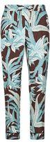 Valentino Palm Print Silk Pyjama Trousers