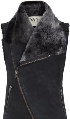 Nolita Drape Vest Distressed Shearling