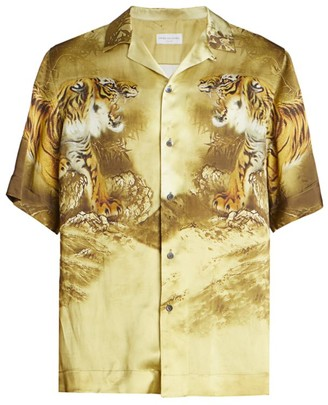 Dries Van Noten Carltone Short-Sleeve Tiger-Print Shirt