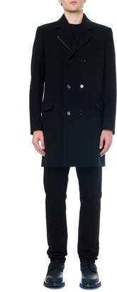 Dolce & Gabbana Black Double Breasted Wool Coat