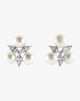 Fallon Monarch Starburst Pearl Cluster Stud Earrings
