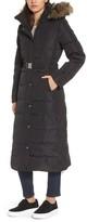 MICHAEL Michael Kors Women's Water Resistant Maxi Puffer Coat With Detachable Hood And Faux Fur Trim
