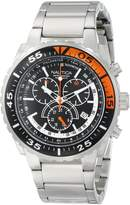Nautica Men's Nst 700 N16656G Silver Stainless-Steel Quartz Watch with Black Dial