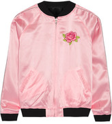Opening Ceremony Cash Reversible Embroidered Silk-satin Jacket - Pastel pink