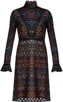 Saloni Rio high-neck lace dress