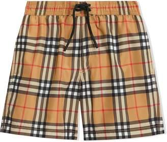 BURBERRY KIDS Vintage Check swim shorts