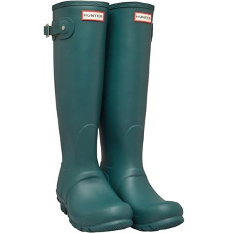 Hunter Womens Tall Wellington Boots Green Jasper