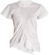 Marques Almeida Asymmetric gathered-jersey T-shirt