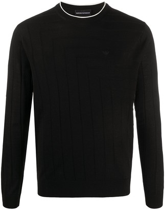 Emporio Armani Long-Sleeve Fitted Jumper