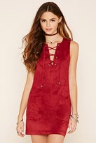 Forever 21 Faux Suede Lace-Up Dress
