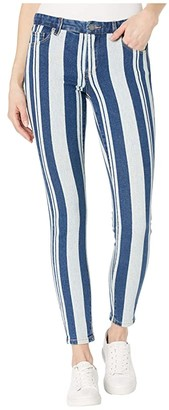 Blank NYC The Bond Mid-Rise Stripe Skinny in East Coastin' (East Coastin) Women's Jeans