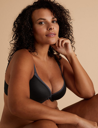 Marks and Spencer Sumptuously Soft Padded Plunge T-Shirt Bra A-E