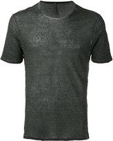 Transit - striped T-shirt - men - Linen/Flax - S